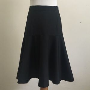 J. Crew Flare skirt in Super 120s wool sz 0